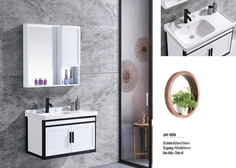 Bộ tủ lavabo nhôm Veurro VR-839