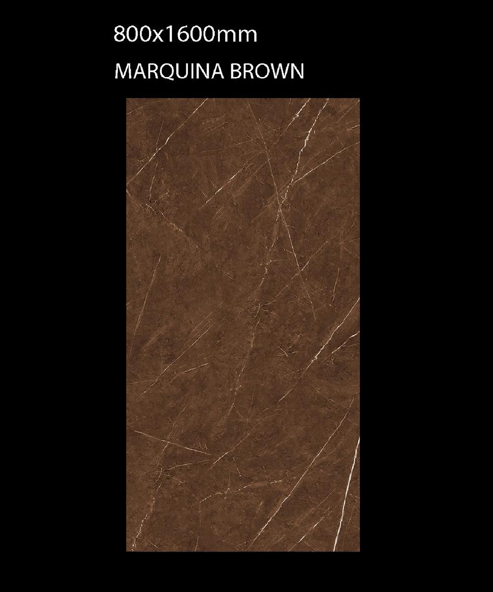 Gạch Ấn Độ 800mmx1600mm MARQUINA BROWN