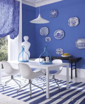 Thiết kế nội thất bằng gam màu xanh
