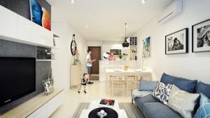 Căn hộ 66 m2 được thiết kế hợp lý cho gia đình 3 thành viên
