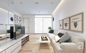 Tư vấn bố trí nội thất căn hộ 51m² với tổng chi phí chưa đến 61 triệu cho vợ chồng sắp cưới