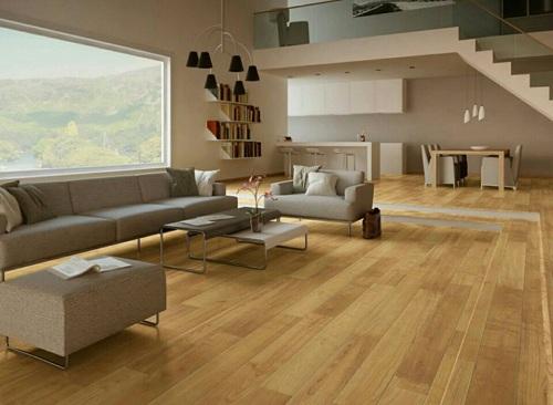 Gạch men giả gỗ giúp ngôi nhà sang trọng và lôi cuốn