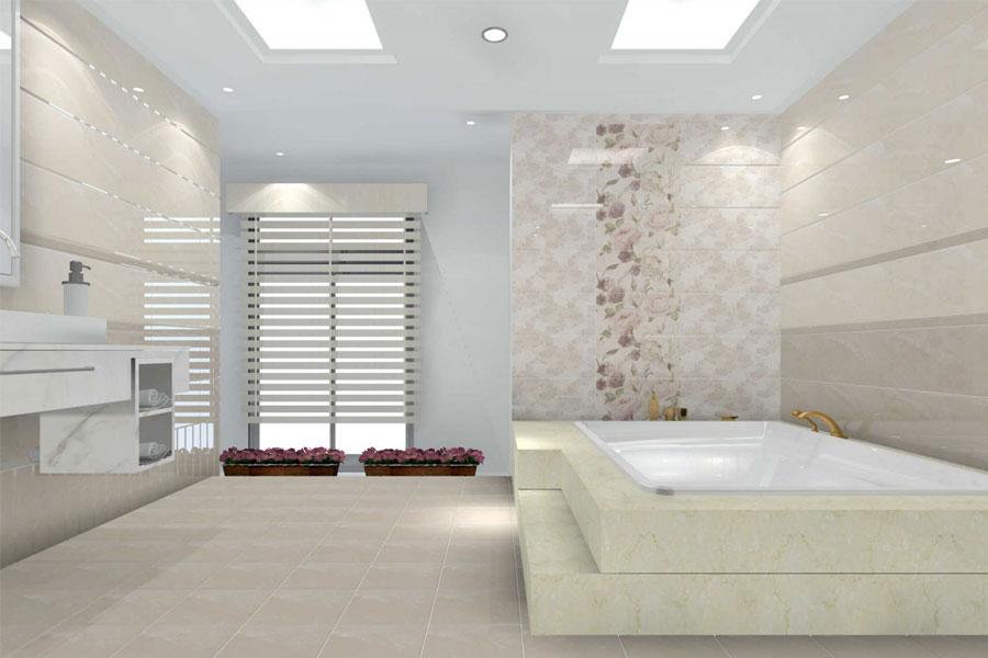 8 cách phối màu ốp lát gạch men cho nhà tắm đẹp