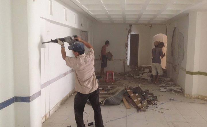Nơm nớp sợ sập vì sửa nhà quên gia cố móng