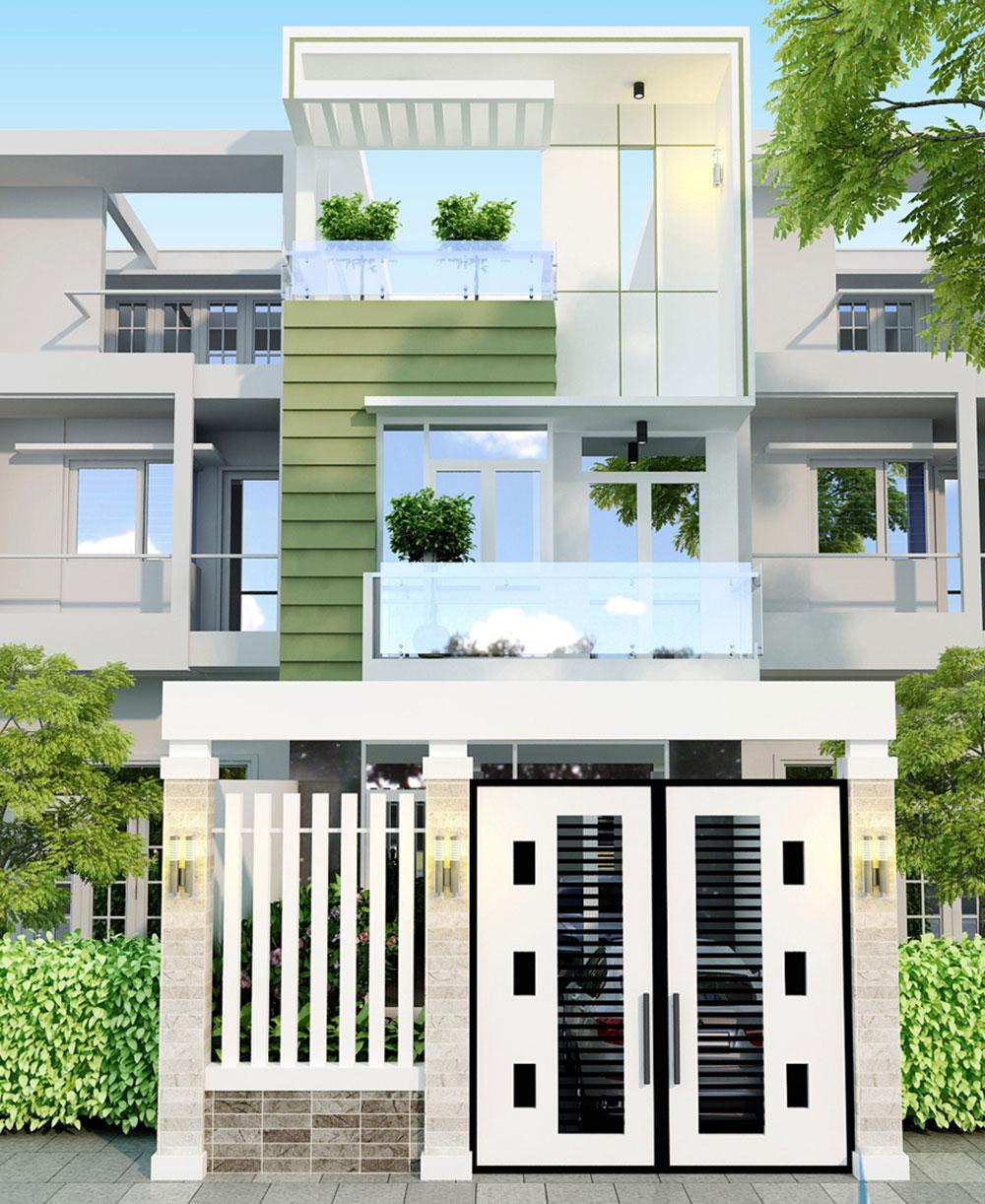 Mẫu nhà phố 3 tầng đẹp, sang trọng hiện đại của Anh Lê Văn Hùng, Đức Hòa, Long An