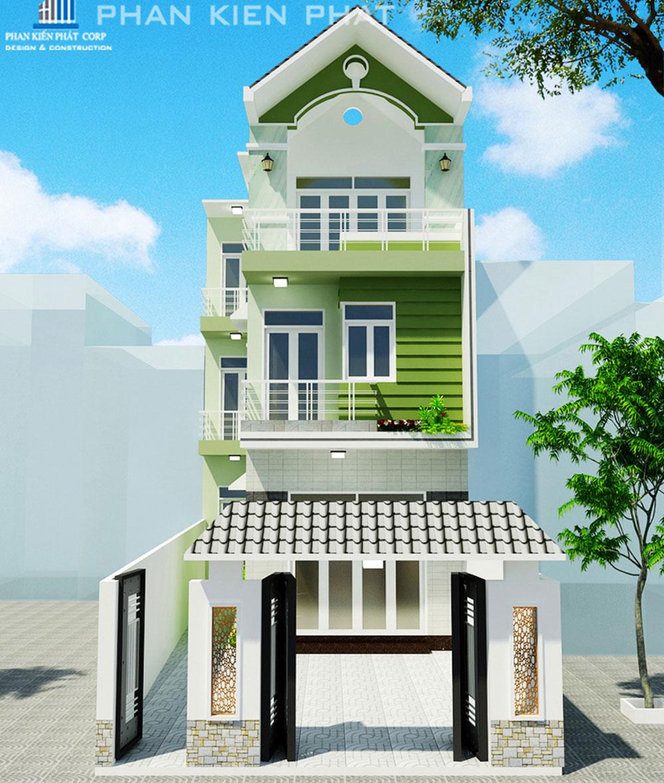 Mẫu nhà phố 3 tầng diện tích 6x18m không gian xanh tuyệt đẹp