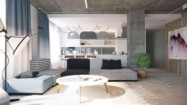 Không cần tô trát, ngôi nhà vẫn mang phong cách đẹp hiện đại