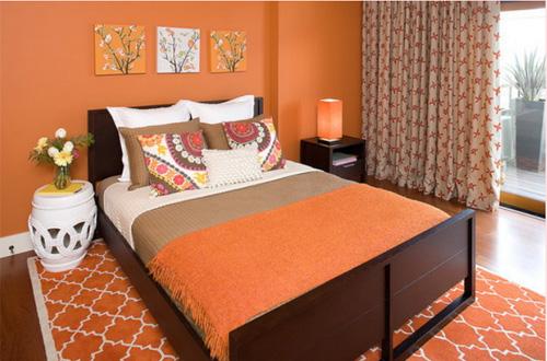 Trang trí nhà đẹp với nội thất màu cam độc lạ