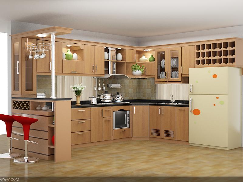 Cách bài trí nội thất phòng bếp sang trọng hiện đại