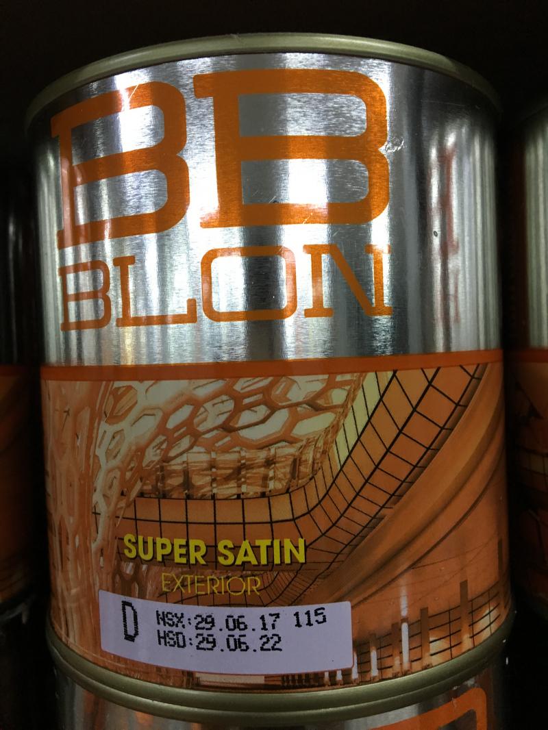 Sơn Boss phủ ngoại thất siêu bóng SUPER SATIN 1L (GỐC D)