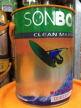 Sơn Boss nội thất chùi sạch dễ dàng CLEAN MAXIMUM 5L (111)