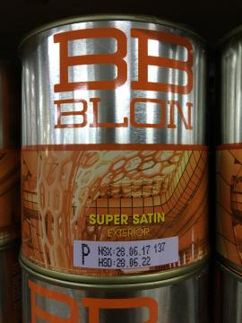 Sơn Boss phủ ngoại thất siêu bóng SUPER SATIN 1L (GỐC P)