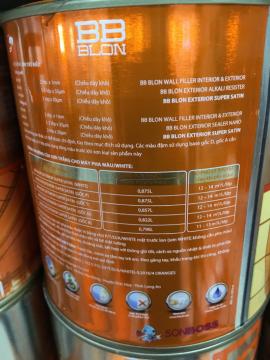 Sơn Boss phủ ngoại thất siêu bóng SUPER SATIN 1L (GỐC A)