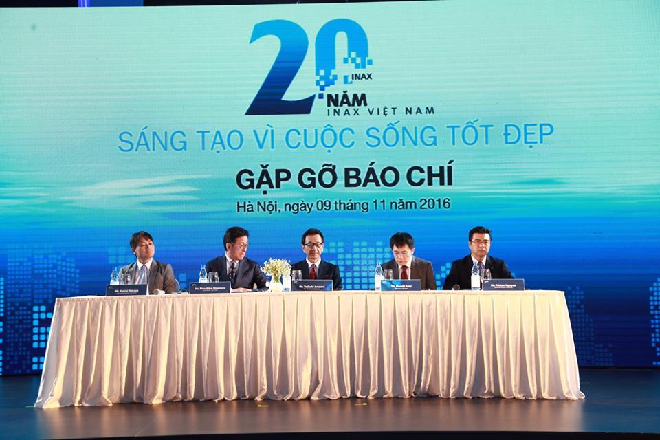 Họp báo kỉ niệm 20 năm INAX tại Việt Nam và ra mắt công nghệ Aqua Ceramic