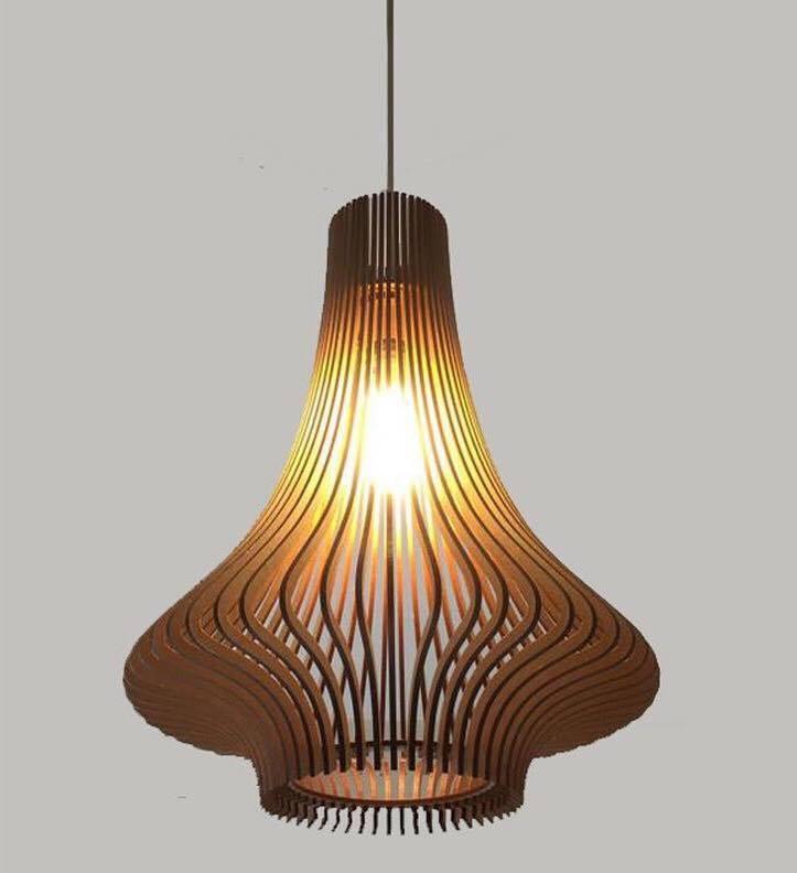Đèn Gỗ Thả Trần Woodlamp 005