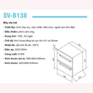 MÁY SẤY BÁT SEVILLA SV-138