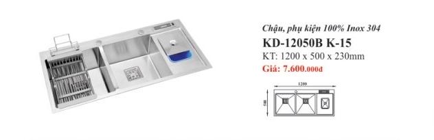 CHẬU RỬA INOX 2 HỐ KASSANI KD-12050B K-15