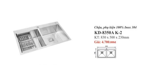 CHẬU RỬA INOX 2 HỐ KASSANI KD-8350A K-2