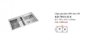 CHẬU RỬA INOX 2 HỐ KASSANI KD-7843A K-8
