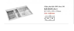 CHẬU RỬA INOX 2 HỐ KASSANI KD-8245A K-1