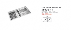 CHẬU RỬA INOX 2 HỐ KASSANI KD-8245 K-9