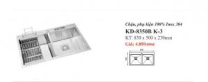 CHẬU RỬA INOX 2 HỐ KASSANI KD-8350B K-3