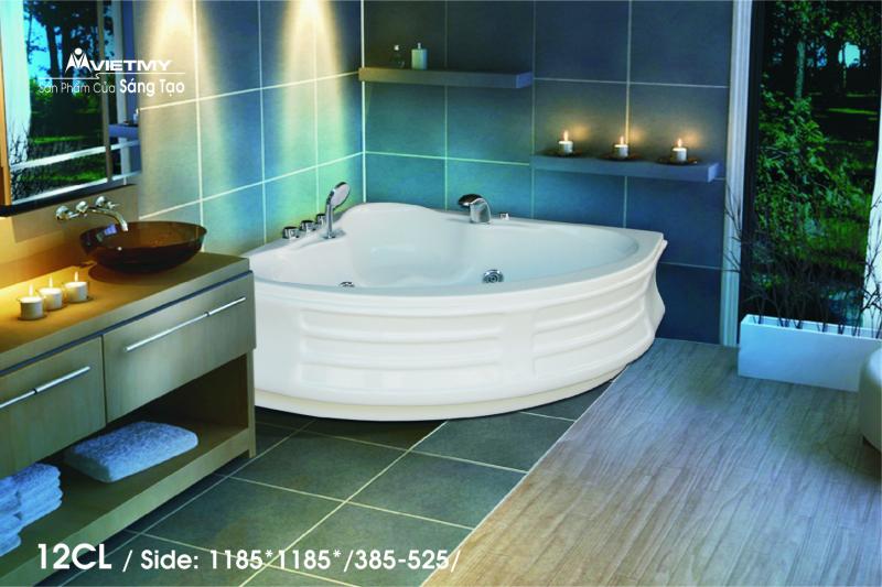 Bồn tắm góc Việt Mỹ Model 12CL