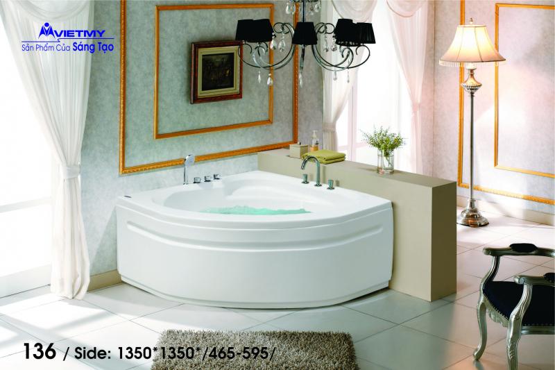 Bồn tắm góc Việt Mỹ Model 136