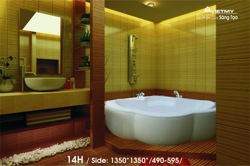 Bồn tắm góc Việt Mỹ Model 14H
