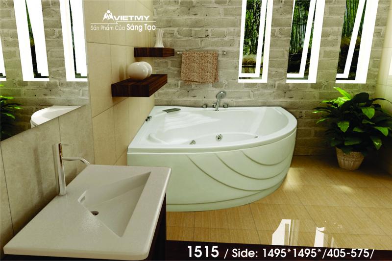Bồn tắm góc Việt Mỹ Model 1515
