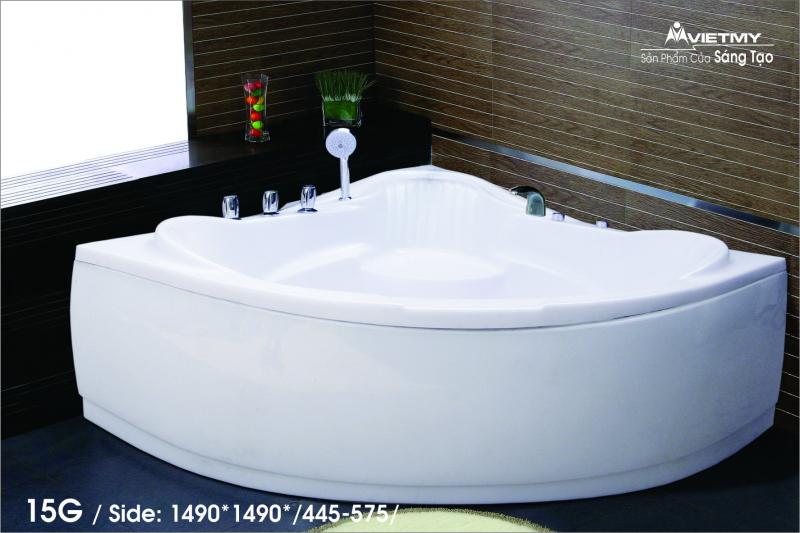 Bồn tắm góc Việt Mỹ Model 15G