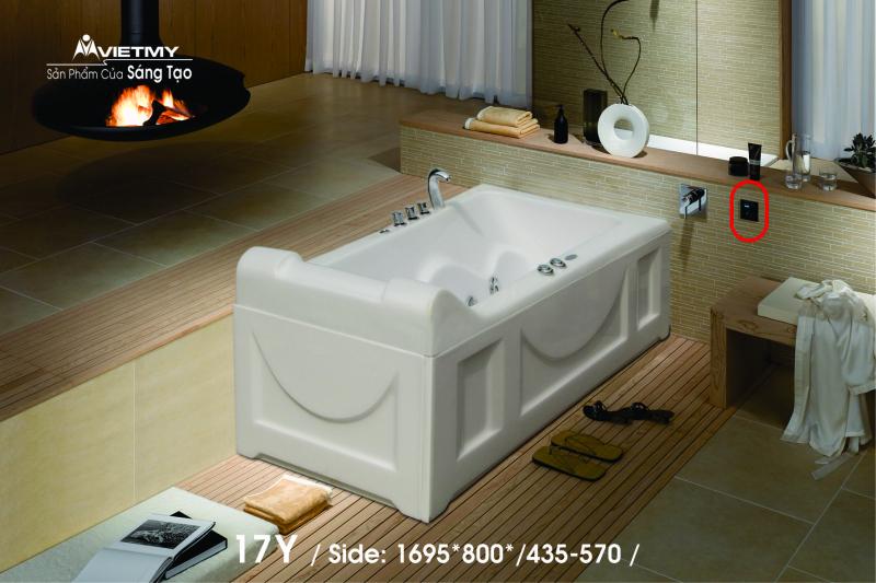 Bồn tắm dài Việt Mỹ Model 17Y