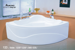 Bồn tắm góc Việt Mỹ Model 123
