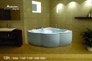 Bồn tắm góc Việt Mỹ Model 12H