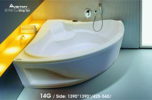Bồn tắm góc Việt Mỹ Model 14G