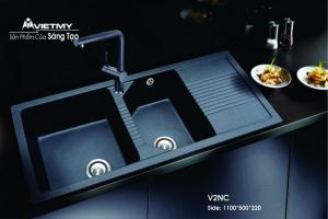 Chậu rửa đá nhân tạo mã V Việt Mỹ Model V2NC