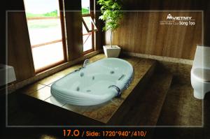 Bồn tắm Oval Việt Mỹ Model 17-O
