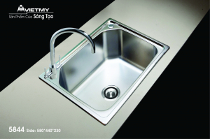 Chậu rửa INOX Việt Mỹ Model 5844