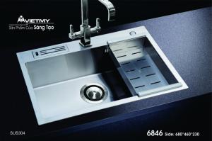 Chậu rửa INOX Việt Mỹ Model 6846