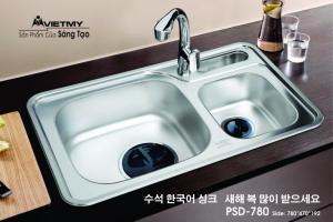 Chậu rửa INOX Việt Mỹ Model PSD-780