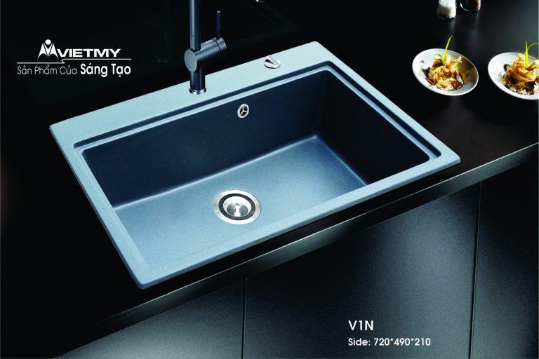 Chậu rửa đá nhân tạo mã V Việt Mỹ Model V1N