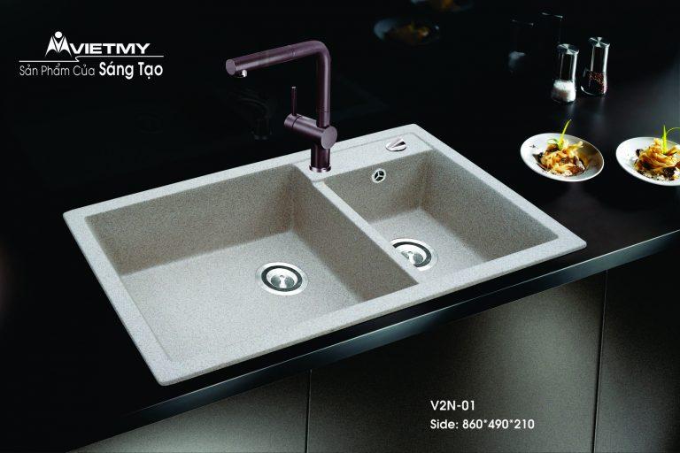 Chậu rửa đá nhân tạo mã V Việt Mỹ Model V2N-01